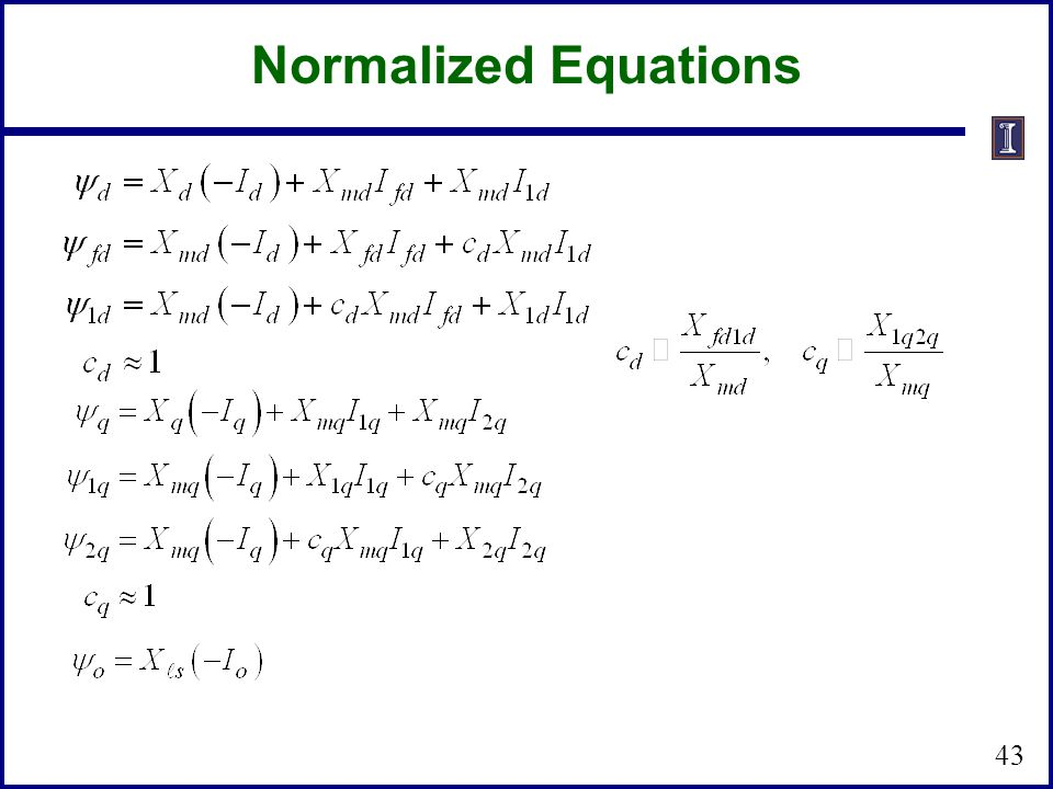 Normalized Equations 43