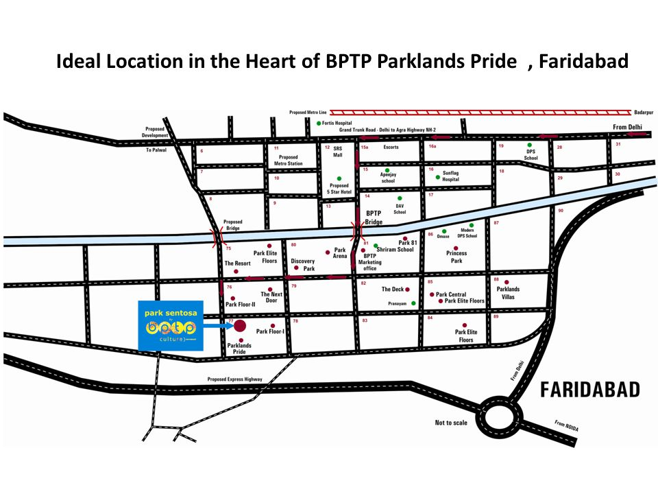 Ideal Location in the Heart of BPTP Parklands Pride, Faridabad