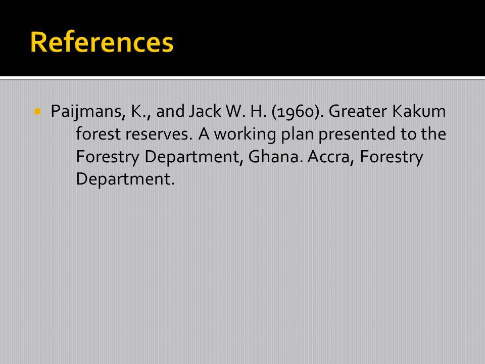 I am grateful to the following organizations: IUFRO-SPDC FORNESSA Presbyterian University College, Ghana