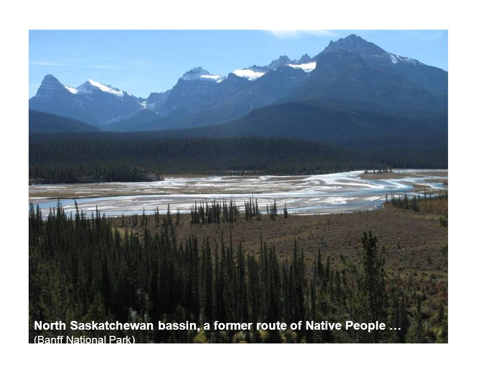 North Saskatchewan bassin, a former route of Native People … (Banff National Park)