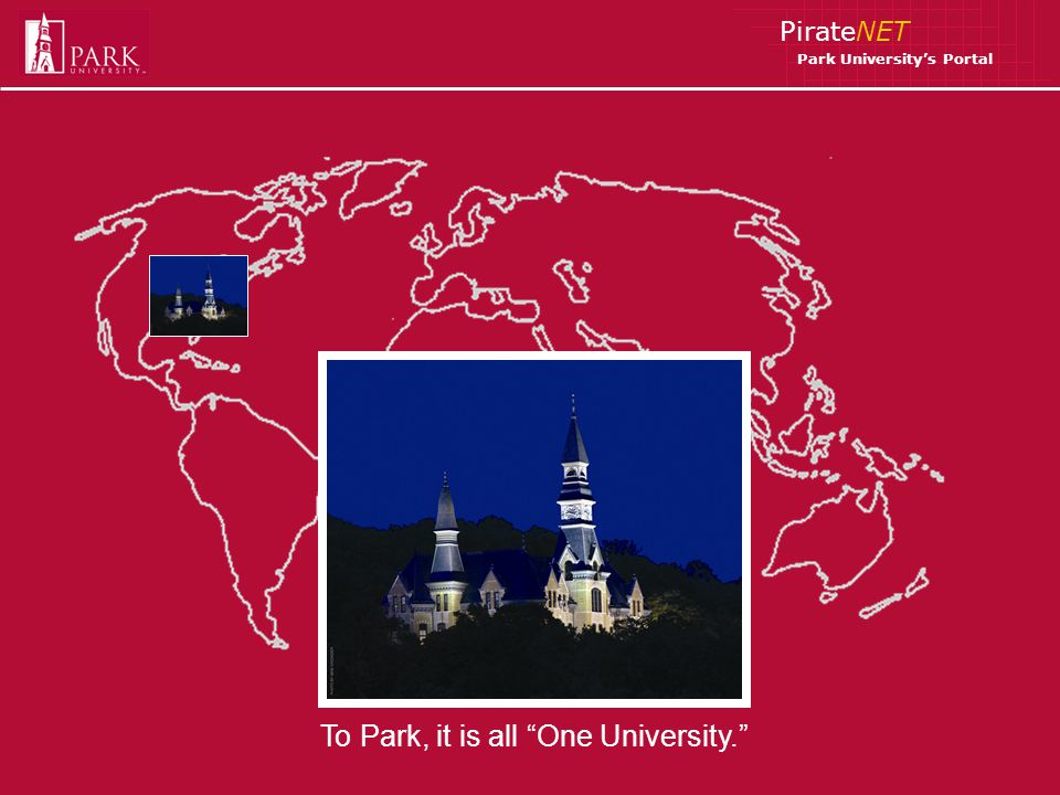 PirateNET Park Universitys Portal To Park, it is all One University.