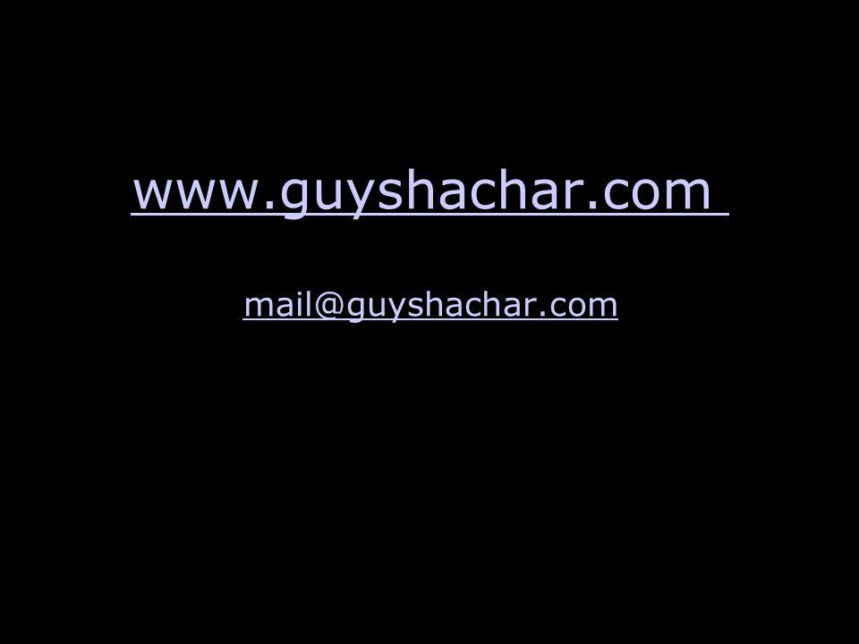 www.guyshachar.com mail@guyshachar.com