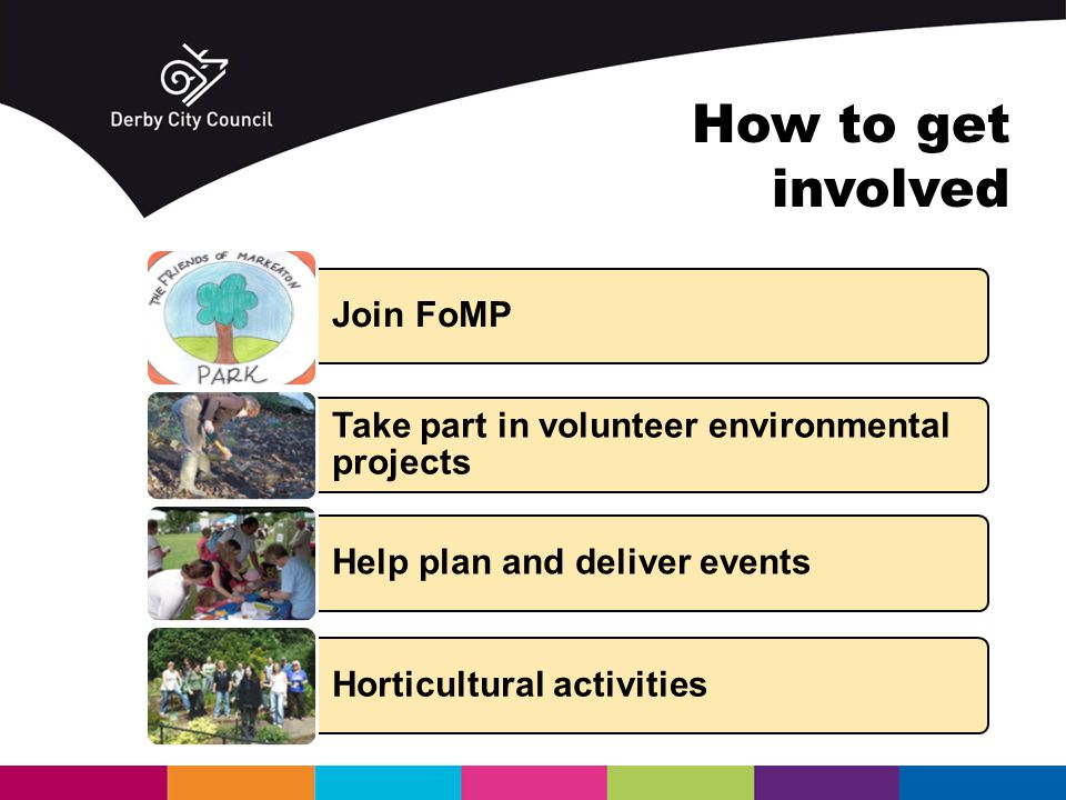 Join FoMP Take part in volunteer environmental projects Help plan and deliver events Horticultural activities How to get involved