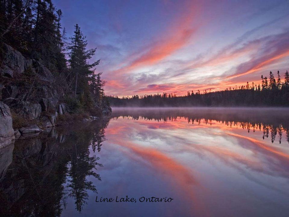 Wahnapitei River at Sunrise, Ontario