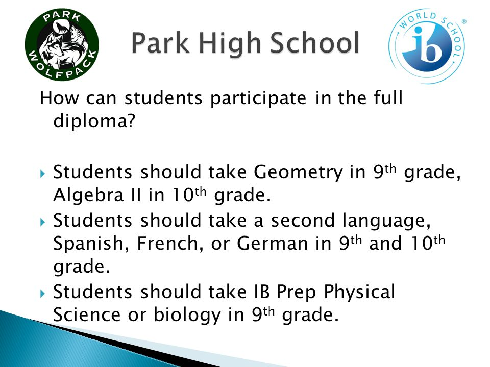 How can students participate in the full diploma.