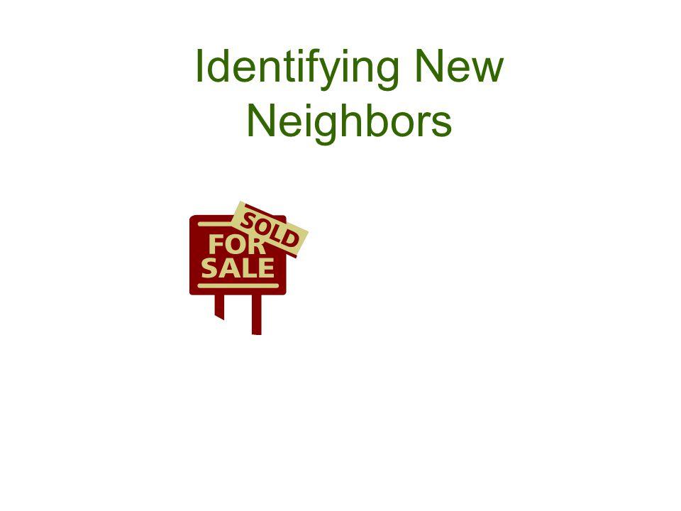 Identifying New Neighbors