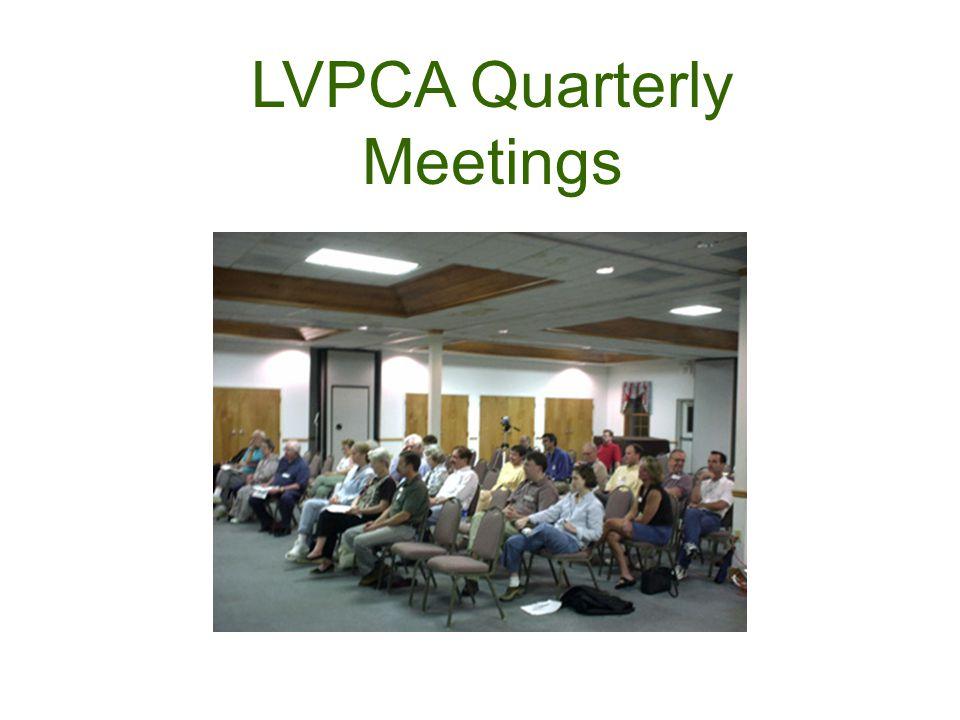 LVPCA Quarterly Meetings