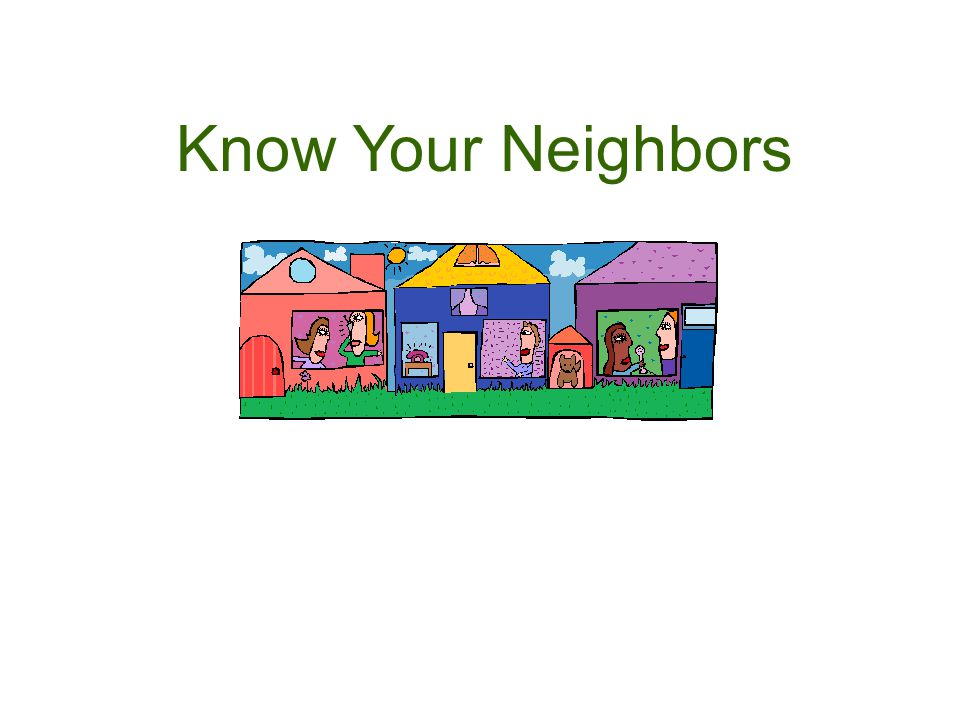 Resident Contact Information Dear Neighbor: To make security in LaVista Park more effective, the Neighborhood Watch Program needs to have each resident provide some basic information that can be used to protect the neighborhood against crime and suspicious activity and to be able to reach you quickly, should that become necessary.