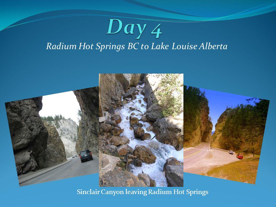 Radium Hot Springs BC to Lake Louise Alberta Sinclair Canyon leaving Radium Hot Springs
