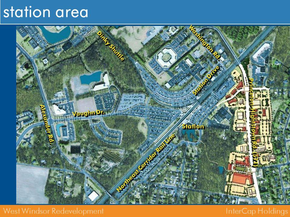 InterCap HoldingsWest Windsor Redevelopment west windsor & nj transit lands Northeast Corridor Rail Line StationStation Dinky Shuttle Washington Rd.