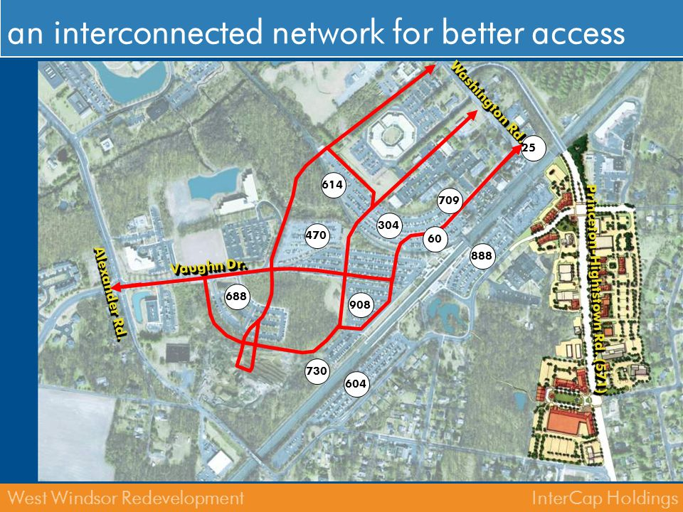 InterCap HoldingsWest Windsor Redevelopment clear & safe pedestrian and bicycle network 3047098886046884709087302560 Washington Rd.