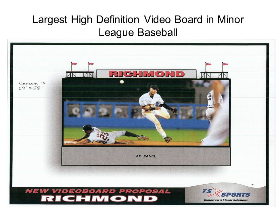 Largest High Definition Video Board in Minor League Baseball