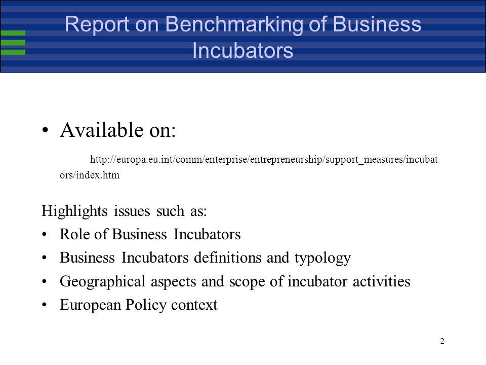 33 Business Incubators Database (II)