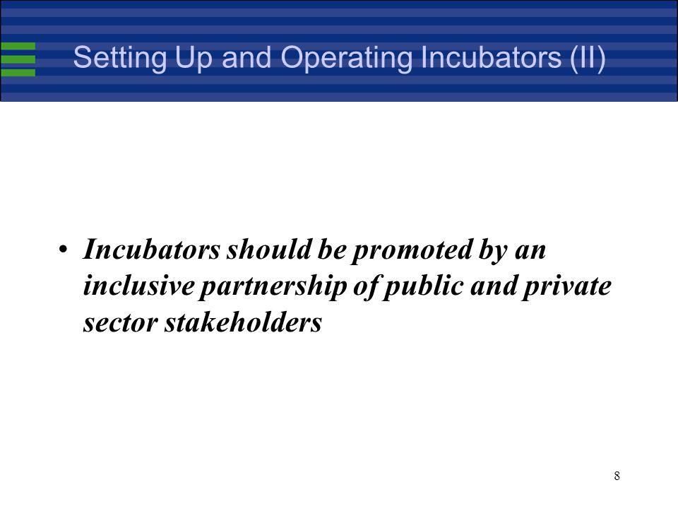 39 Business Incubators Database (VIII)