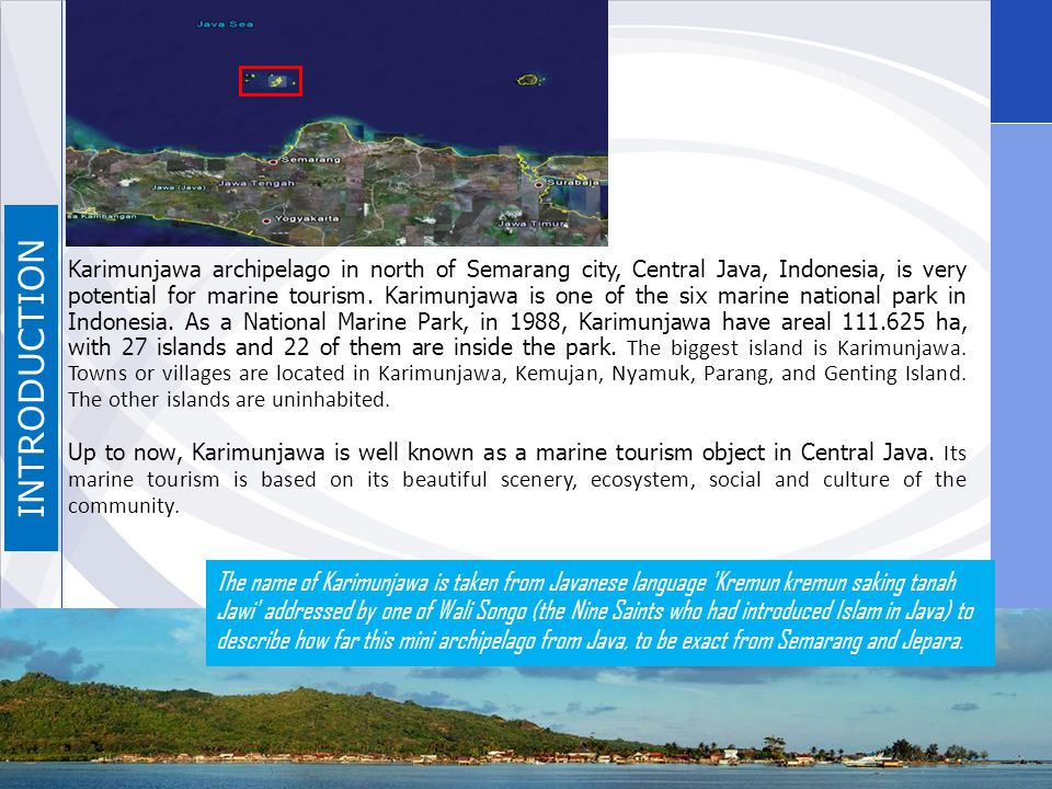 Attraction Marine Attraction Land Attraction Ocean Island Beach Snorkelling Diving Camping Sunbathing Fishing Fishery Watching Hill Village Mangrove Bird Watching Hill Tracking Art & Culture Traditional performance Mangrove Tracking Fishing, Crab and Shell Hunting RESULTS Ethnoecology of Karimunjawa Tourism: Perspective of Local Guide