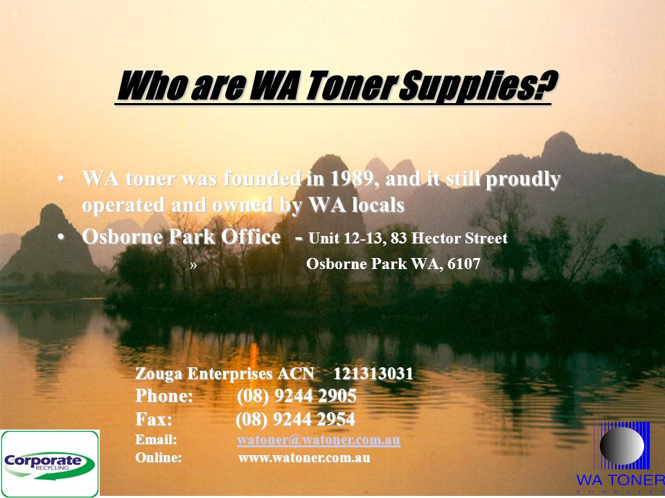 Who are WA Toner Supplies.