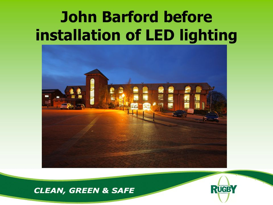 John Barford before installation of LED lighting