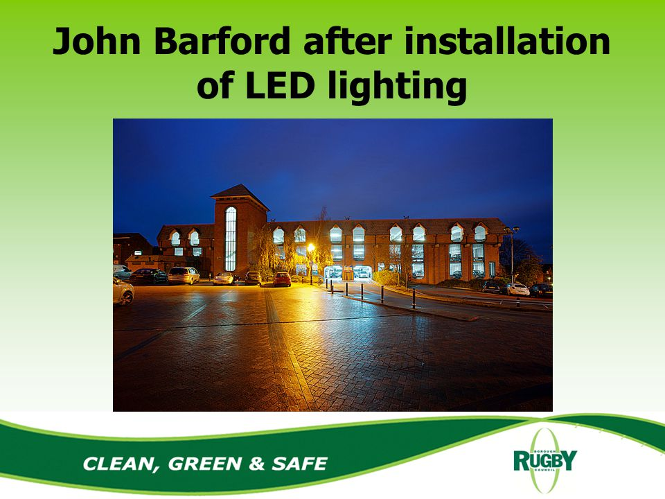 John Barford after installation of LED lighting