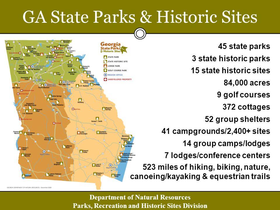 Department of Natural Resources Parks, Recreation and Historic Sites Division FriendsofGaStateParks.org partner.