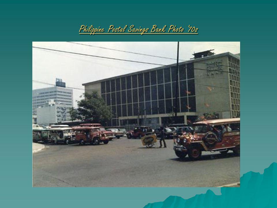 Philippine Postal Savings Bank Photo '70s Philippine Postal Savings Bank Photo '70s