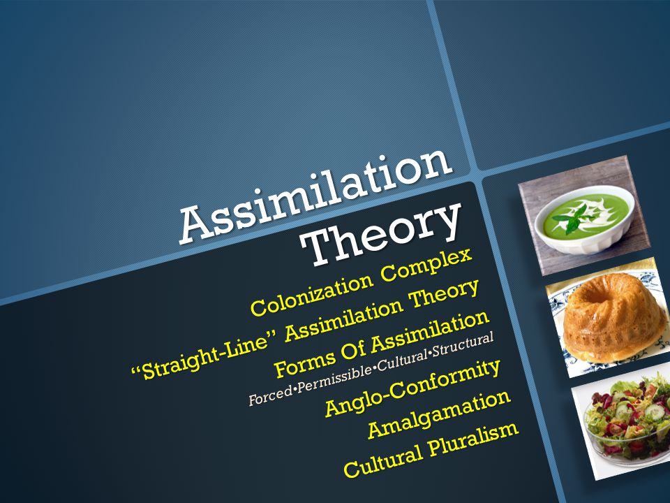 Assimilation Theory Colonization Complex Straight-Line Assimilation Theory Forms Of Assimilation ForcedPermissibleCulturalStructuralAnglo-ConformityAm