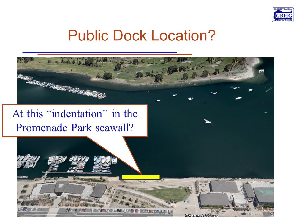 Public Dock Location? At this indentation in the Promenade Park seawall?