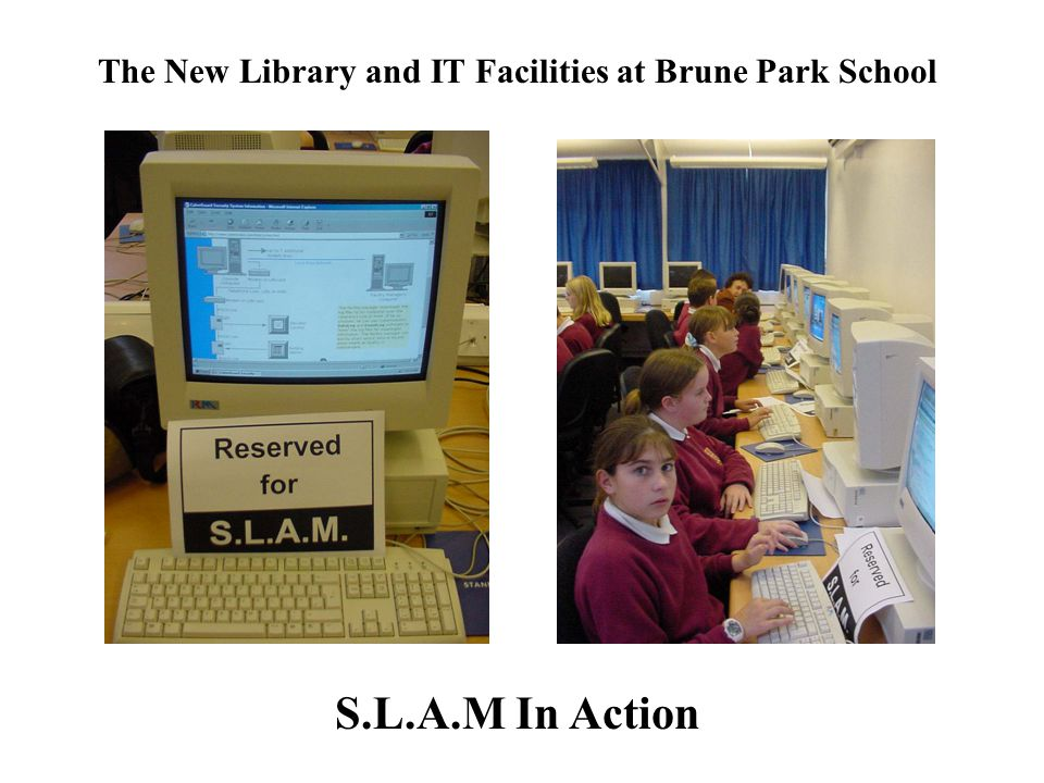 The New Library and IT Facilities at Brune Park School S.L.A.M In Action