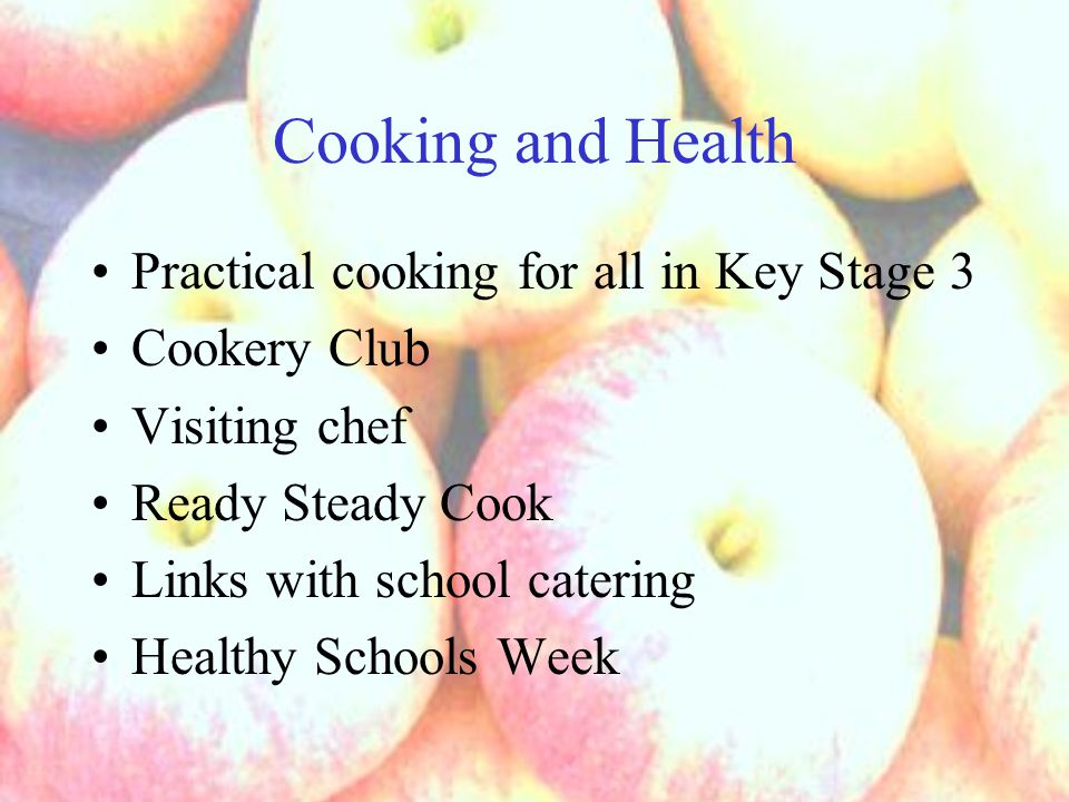 Ready Steady Cook 2007 House teams (teacher plus pupil go through from in-house competition) All planning by pupils (details, panel of judges, marketing posters, tickets, refreshments