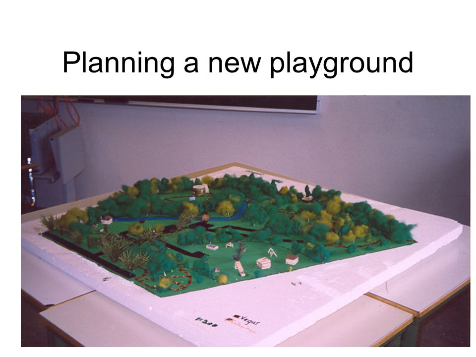 Planning a new playground