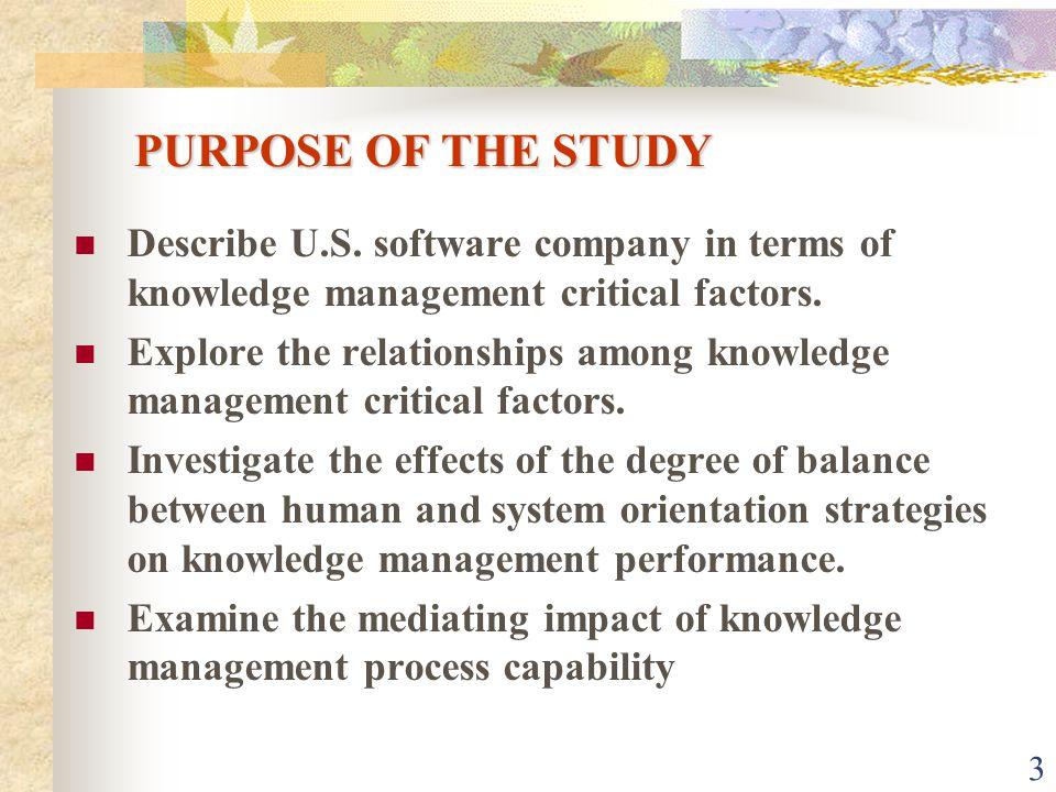 3 PURPOSE OF THE STUDY Describe U.S.