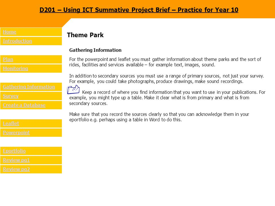 Theme Park Survey What do you need to know.