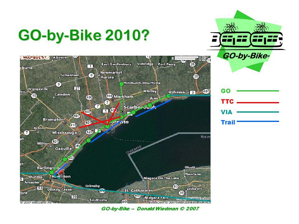 GO-by-Bike – Donald Wiedman © 2007 GO-by-Bike 2010? GO TTC VIA Trail