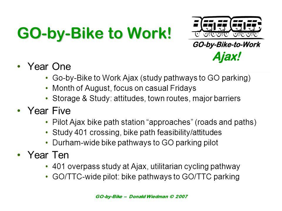 GO-by-Bike – Donald Wiedman © 2007 GO-by-Bike to Work.