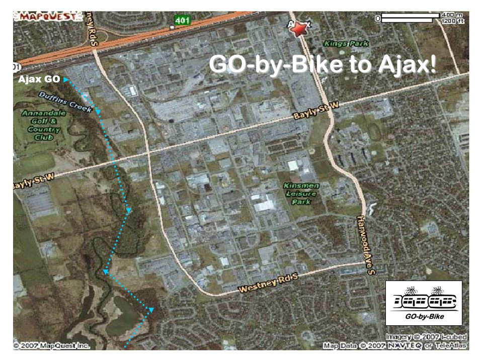 GO-by-Bike – Donald Wiedman © 2007 Ajax GO GO-by-Bike to Ajax!