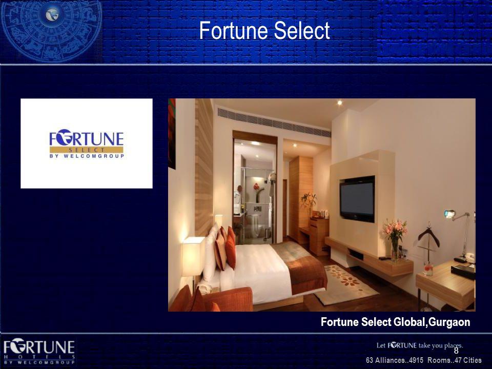 34 Alliances..2706 Rooms..3 1 Cities 63 Alliances..4915 Rooms..47 Cities 8 Fortune Select Fortune Select Global,Gurgaon