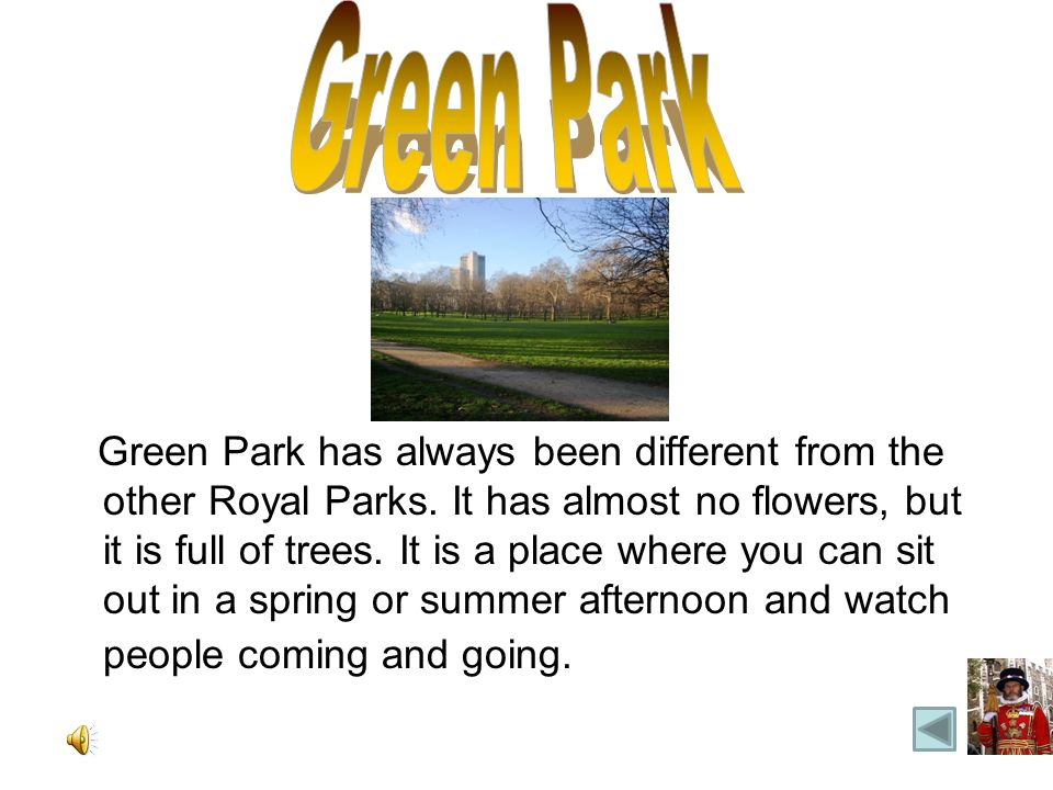 Green Park has always been different from the other Royal Parks.