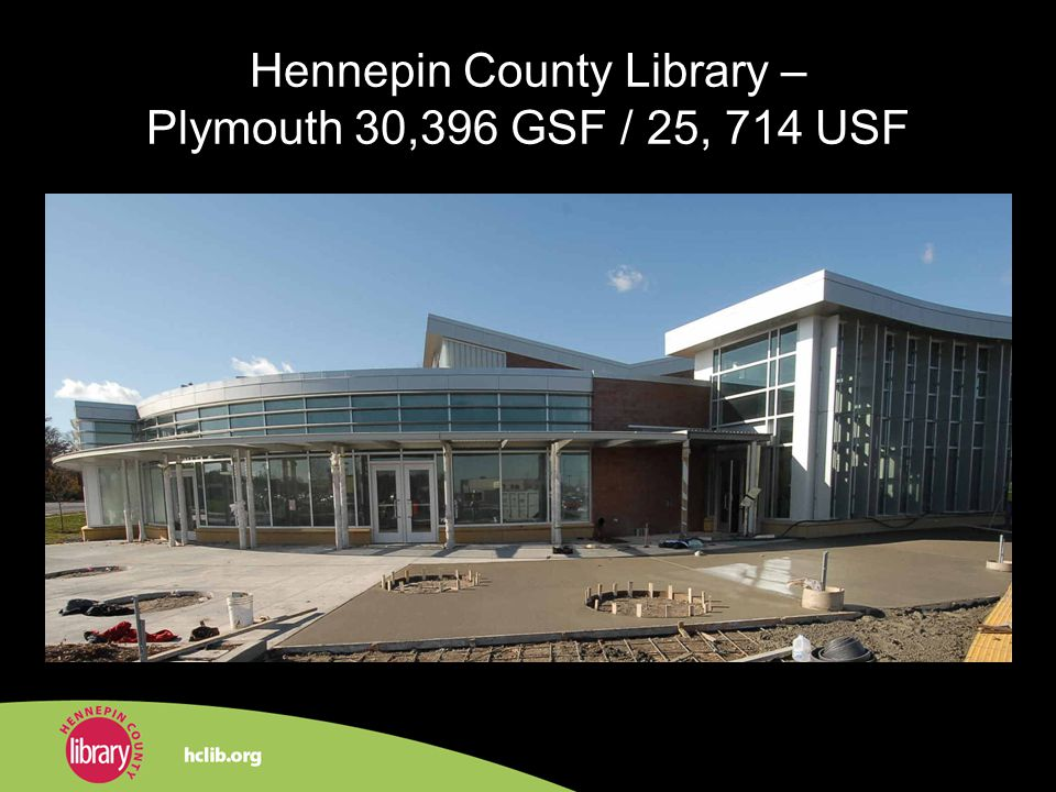 Hennepin County Library – Plymouth 30,396 GSF / 25, 714 USF