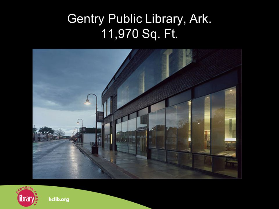 Gentry Public Library, Ark. 11,970 Sq. Ft.
