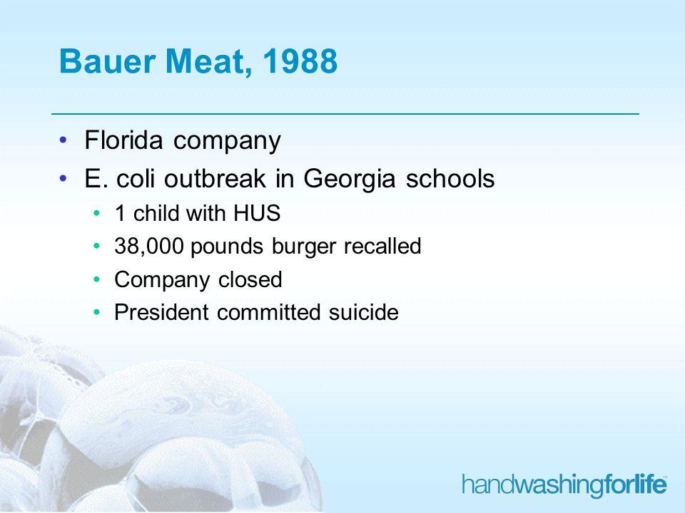 Bauer Meat, 1988 Florida company E.