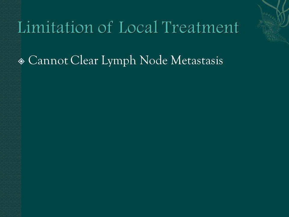 Cannot Clear Lymph Node Metastasis