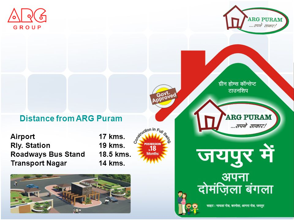 Distance from ARG Puram Airport 17 kms. Rly. Station 19 kms.