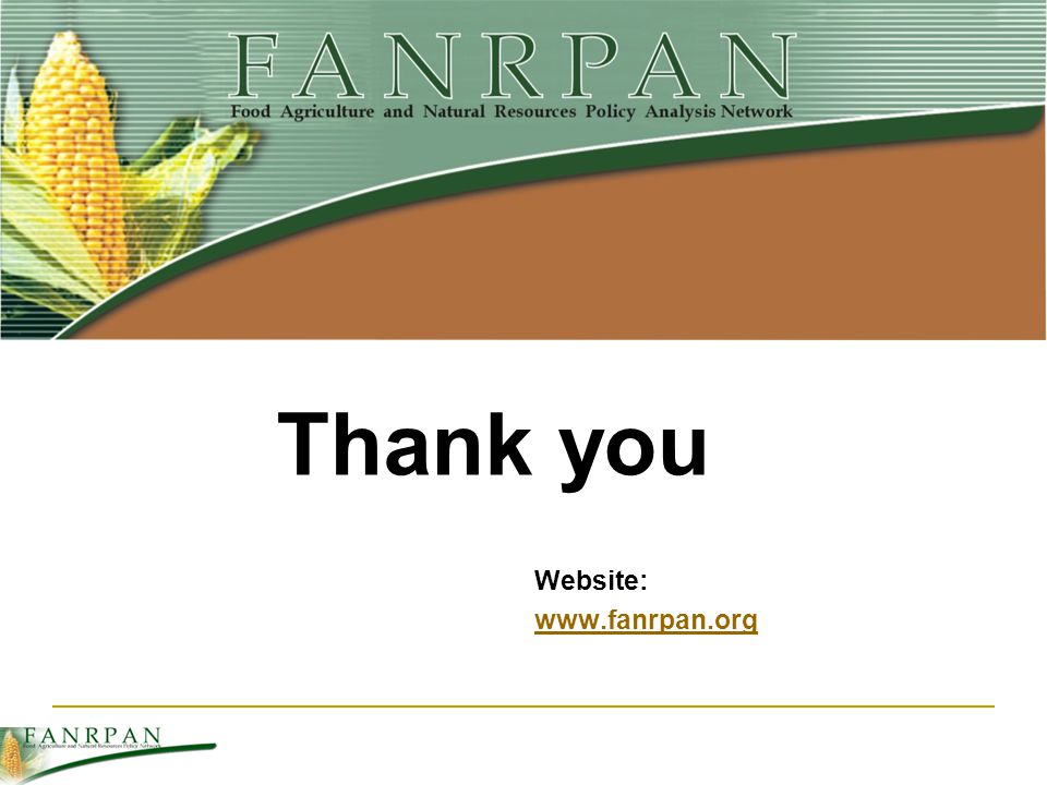 Website: www.fanrpan.org Thank you