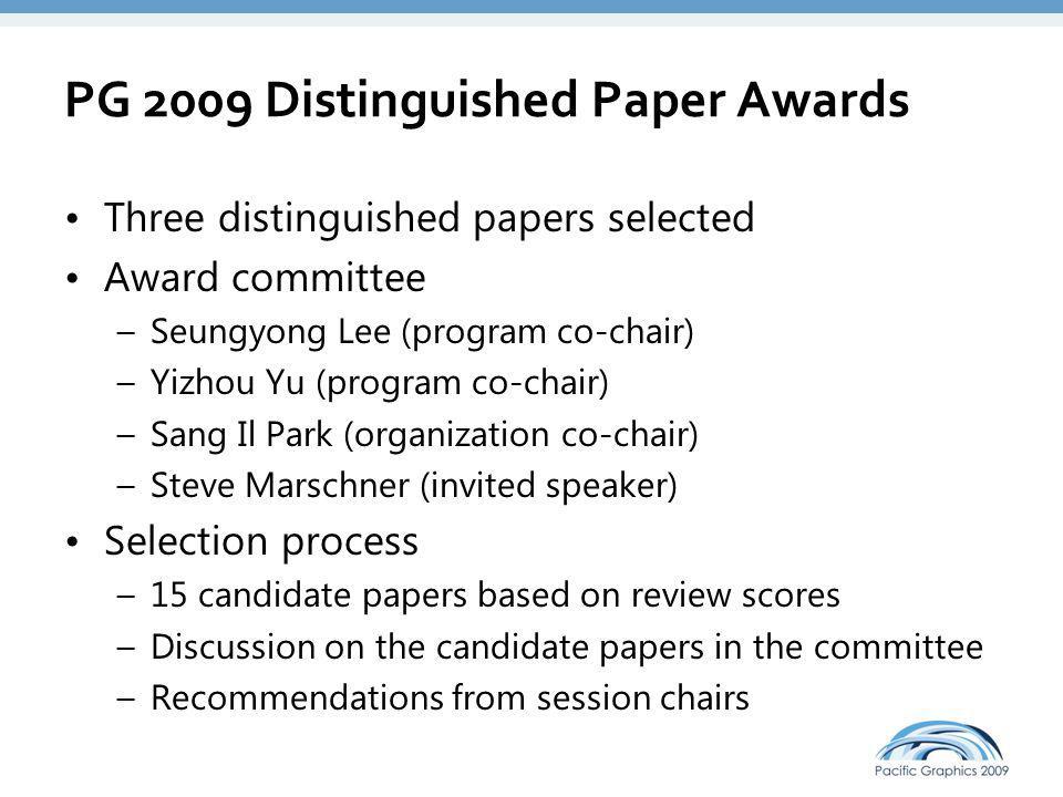 PG 2009 Distinguished Paper Awards