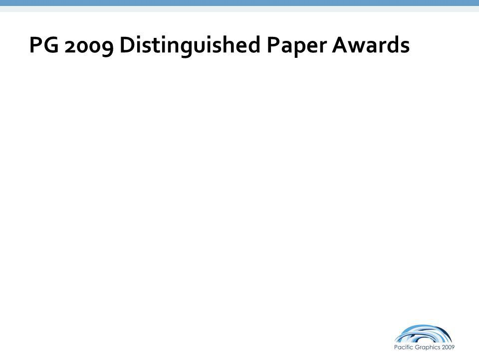 PG 2009 Distinguished Paper Awards