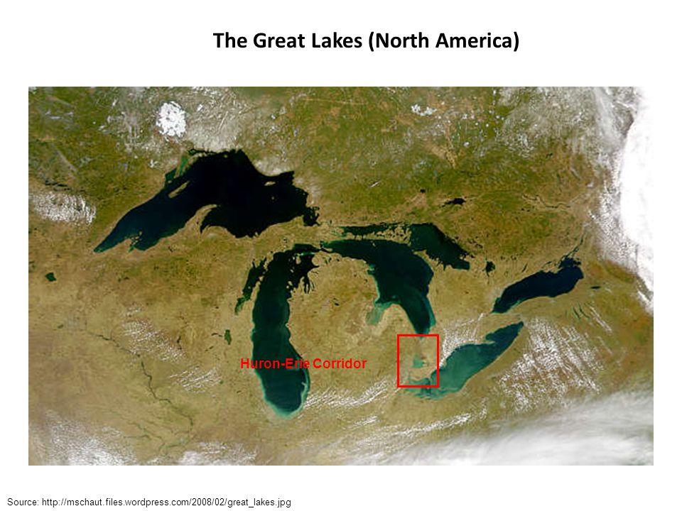 Source: http://en.wikipedia.org/wiki/File:Lake_st_clair_landsat.jpeg Huron-Erie Corridor Source: http://gis.glin.net/maps/ Lake St.