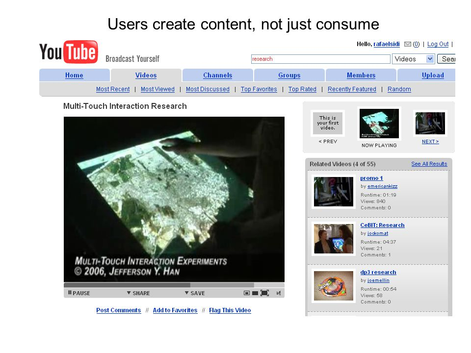 Users create content, not just consume