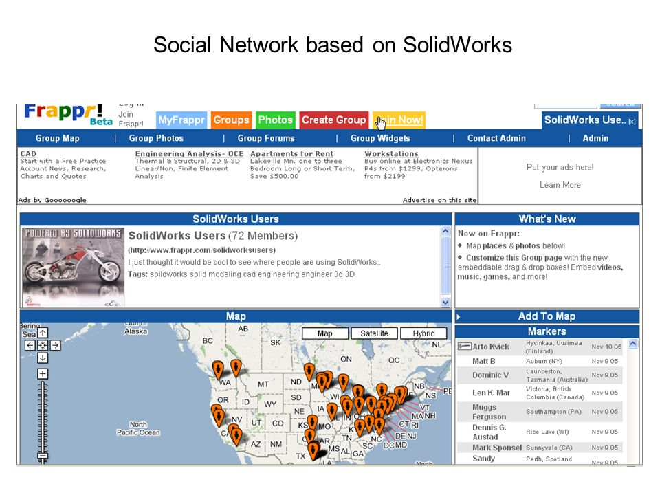 Social Network based on SolidWorks