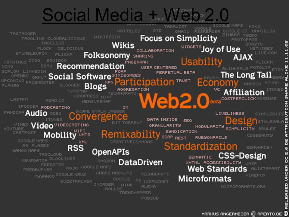 Social Media + Web 2.0