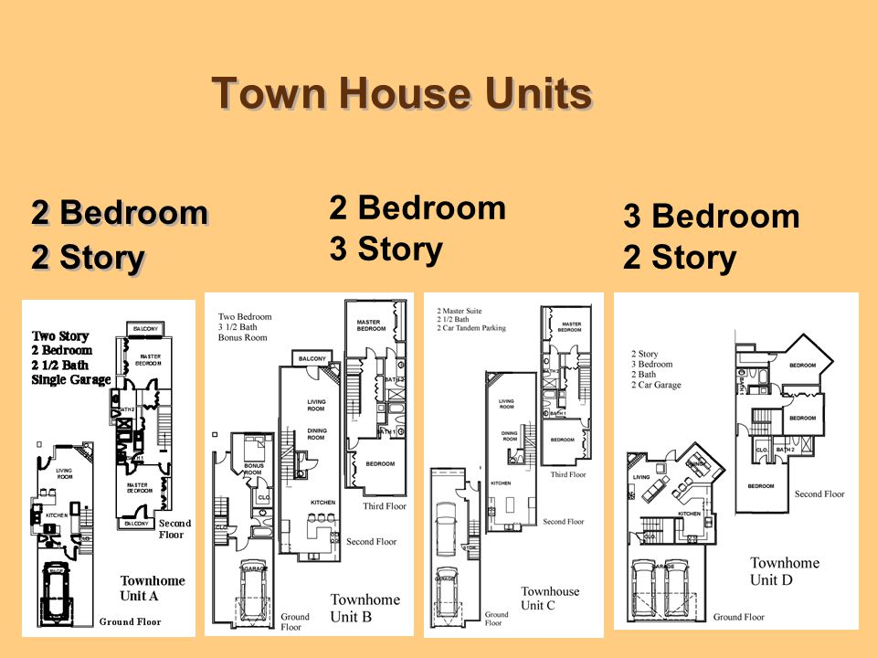 Town Home Elevations 4 buildings Each Unit will have unique color and detail 4 buildings Each Unit will have unique color and detail