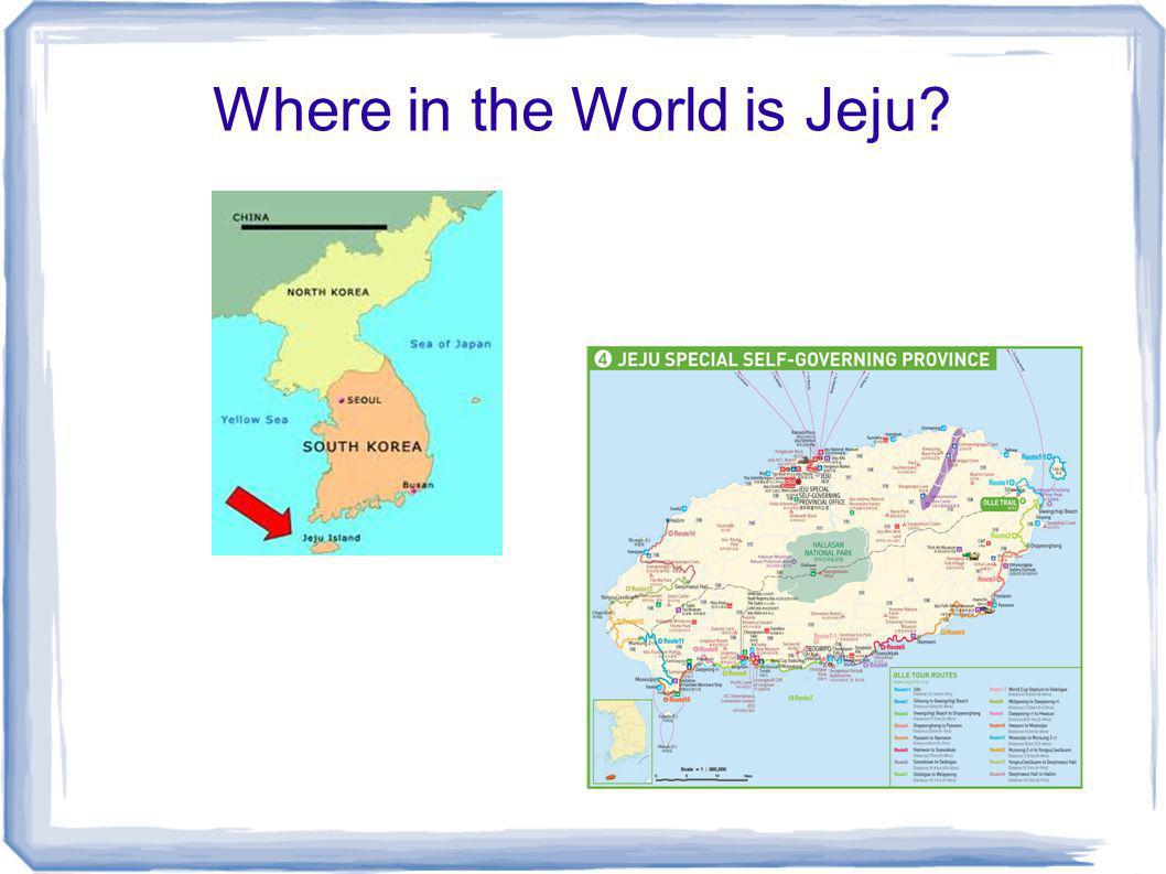 Where in the World is Jeju